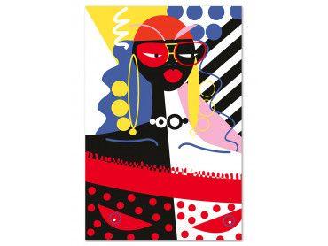 Tableau collage la femme aux lunettes