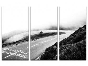 Tableau photo virage dans la brume