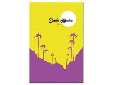 Tableau graphique Santa Monica Californie
