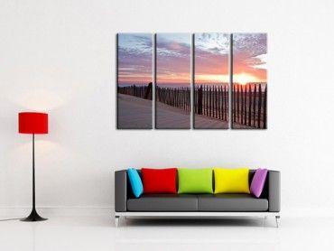 Tableau photo de paysages au coucher du soleil