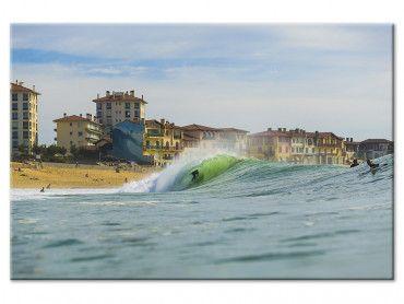 Tableau photo tube sur la centrale Hossegor Beach