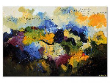 Tableau peinture abstraite Beauty codage