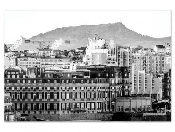 Tableau photo noir et blanc Grand hôtel Biarritz
