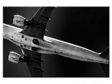 Tableau photo noir et blanc avion Overhead