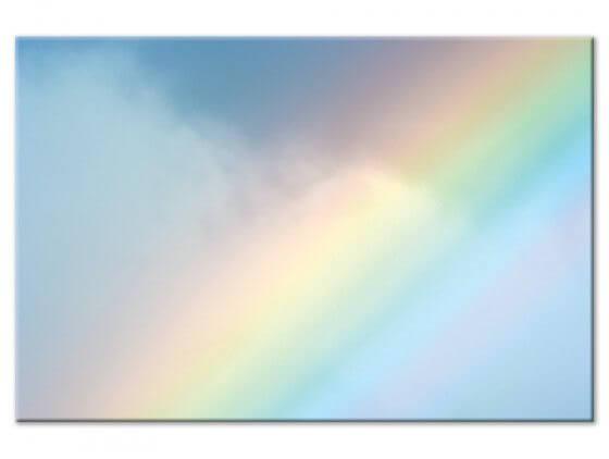 Tableau photo arc en ciel pastel