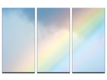 Tableau photo arc en ciel pastel