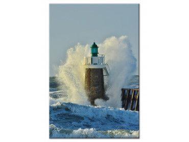 Tableau photo tempête sur le phare