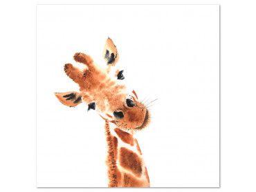 Tableau dessin charmante girafe