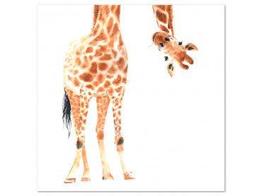 Tableau dessin coucou de girafe