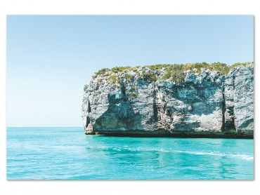 Tableau photo Limestone cliffs, West Caicos