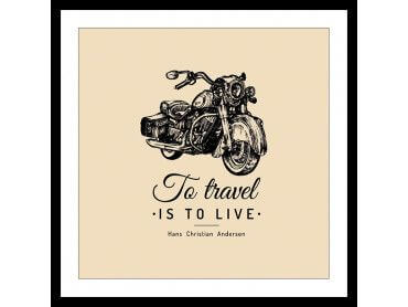 Poster To travel Is To Live