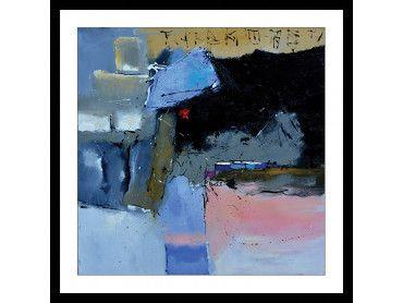 """Affiche """"Bleu et rivage côtier"""""""