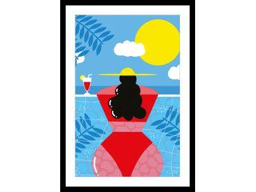 Affiche Femme Au bord e la piscine