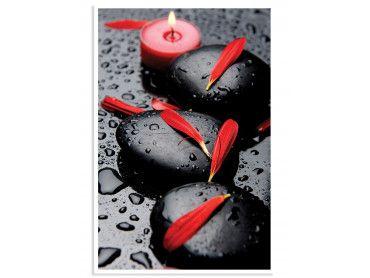 """Poster """"Zen Moment et Petales rouges"""""""