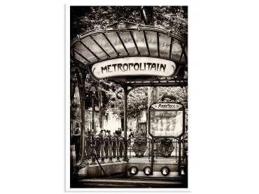 Affiche Paris Metro Abbesses par Hugonnard