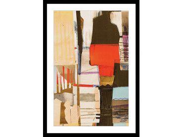 """Affiche sous cadre """"Abstrait detail collage beige"""""""