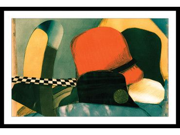 """Affiche à encadrer """"abstrait Hats and Fashion"""""""