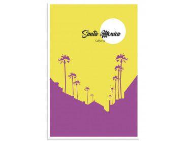 Cadre graphique Santa Monica Californie