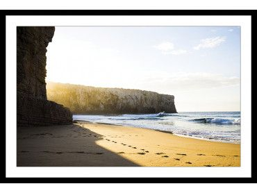 Cadre photo secret spot plage et falaise