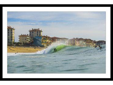 Cadre photo tube sur la centrale Hossegor Beach