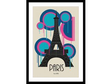 Cadre graphique Tour Eiffel Paris France