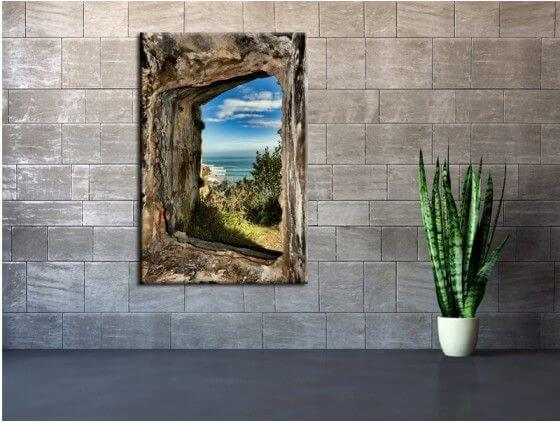 Tableau moderne vue sur Laredo cantabrie Espagne