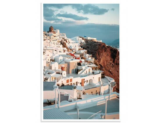 "Poster Photo paysage les Cyclades ""Santorini"""