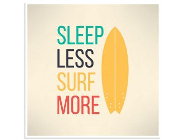 Poster illustration citation et surf report