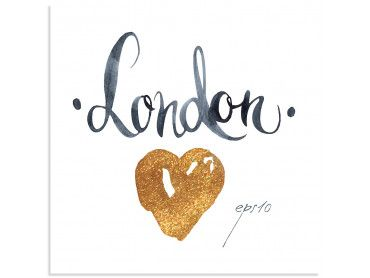 Poster illustration London gloss