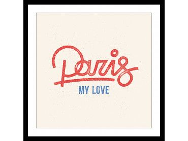 Poster Illustration Paris My Love
