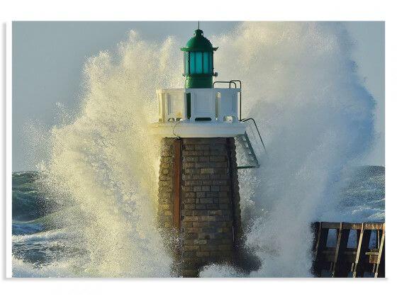 Affiche photo tempête sur le phare