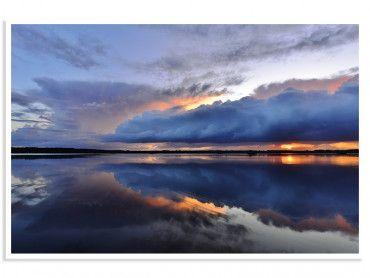 Affiche photo bleue reflets d'eau