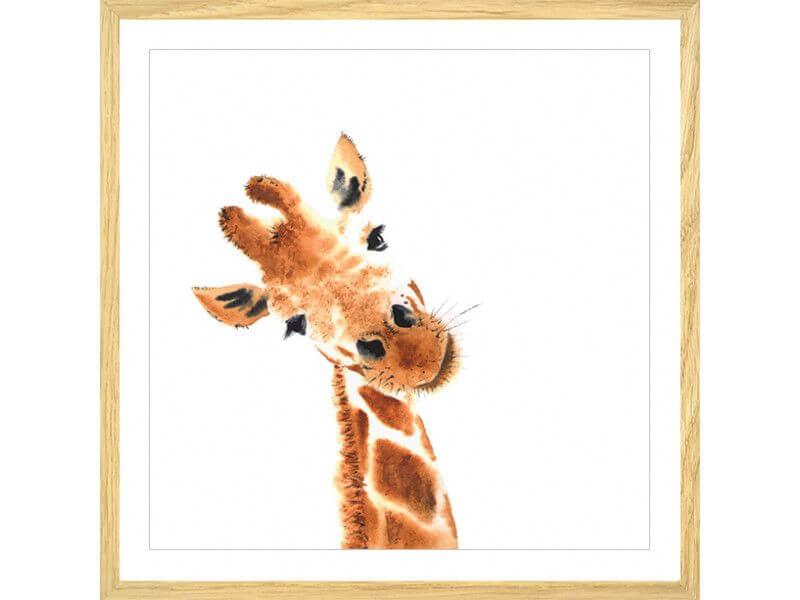 Tableau Dessin Girafe Decoration Pour Chambre Pas Cher