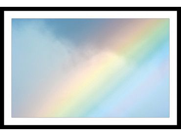 Affiche photo arc en ciel pastel