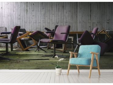 Papier peint trompe oeil apocalypse chairs