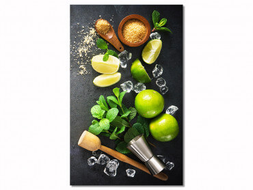 Tableau deco ingredients mojito