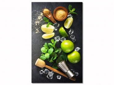 Tableau deco ingredients mojito