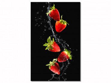 Tableau design fraises pour cuisine