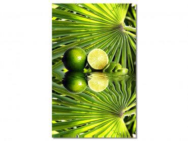 Tableau cuisine deco citron vert