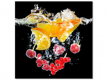 Tableau cuisine fruits design