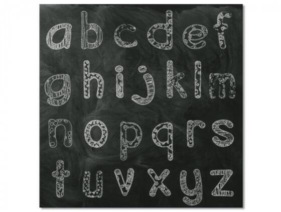 Tableau alphabet craie pour chambre enfant