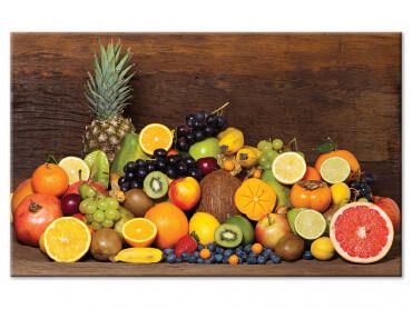 Tableau fruits exotiques pour cuisine