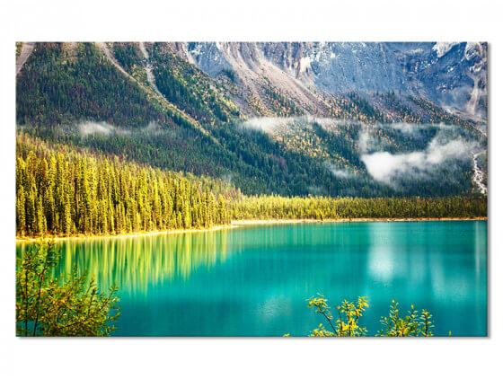 Tableau paysage canada lac en montagne