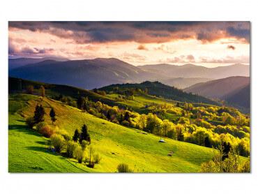 Tableau paysage quand la montagne se reveille