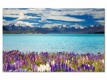 Tableau deco lac de montagne et transparence