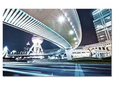 Tableau urbain shanghai de nuit
