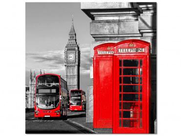 Tableau noir et blanc Londres Big Ben