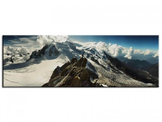 Tableau deco photo panoramique du Mont blanc