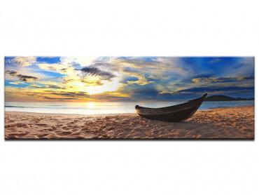 Tableau deco paysage barque abandonnee