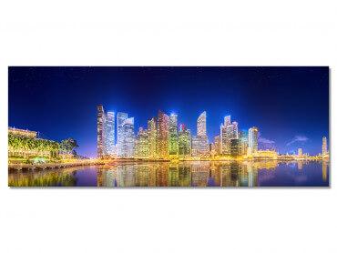 Tableau panorama urbain de nuit